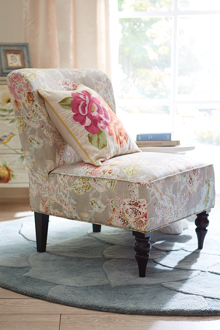 Merveilleux Pier 1u0027s Space Saving Addyson Chair In This Tailored, Jacobean Floral  Design Can Make You Feel Like Youu0027re Sitting In Your Own Vintage Garden.