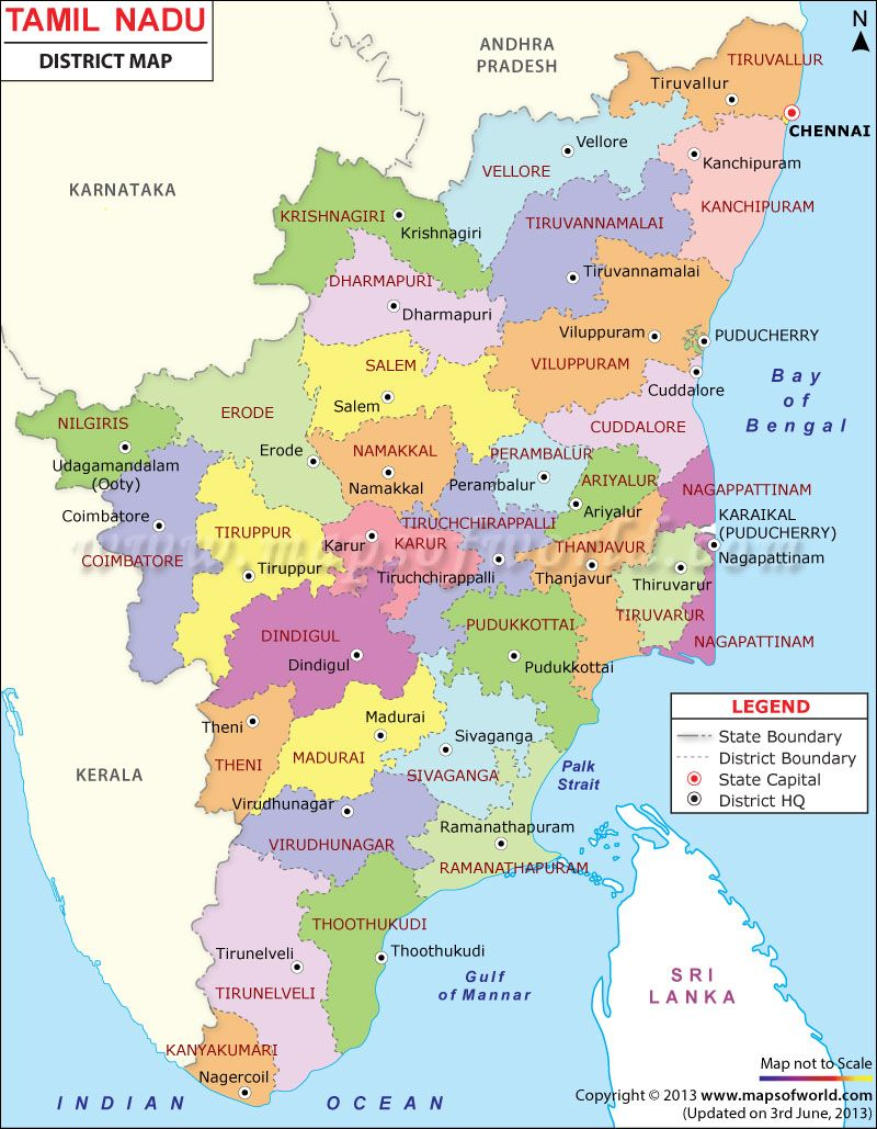 Maps In Tamilnadu Tamilnadu District Map | Places to Visit in 2019 | India map, Map