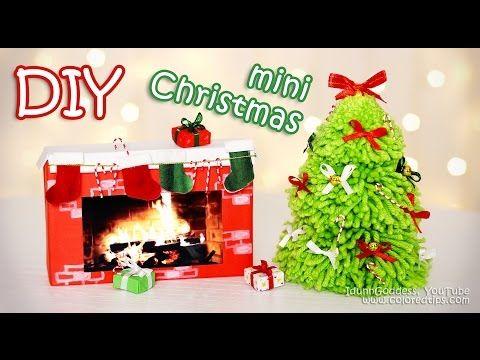 diy mini christmas decorations tiny holiday decor ideas youtube