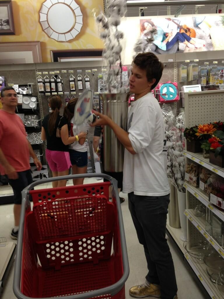 Apparently, @AnselElgort is the worst shopper ever