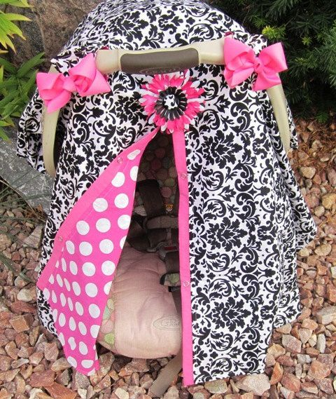 Carseat Canopy Free Shipping Code Today By SooShabbyChic On Etsy 3499