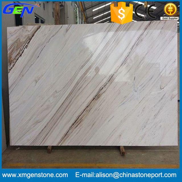 White Brown Veins Marble Tile