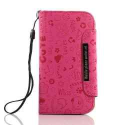 Magenta Diary Book Design Mix Pattern Leather Case