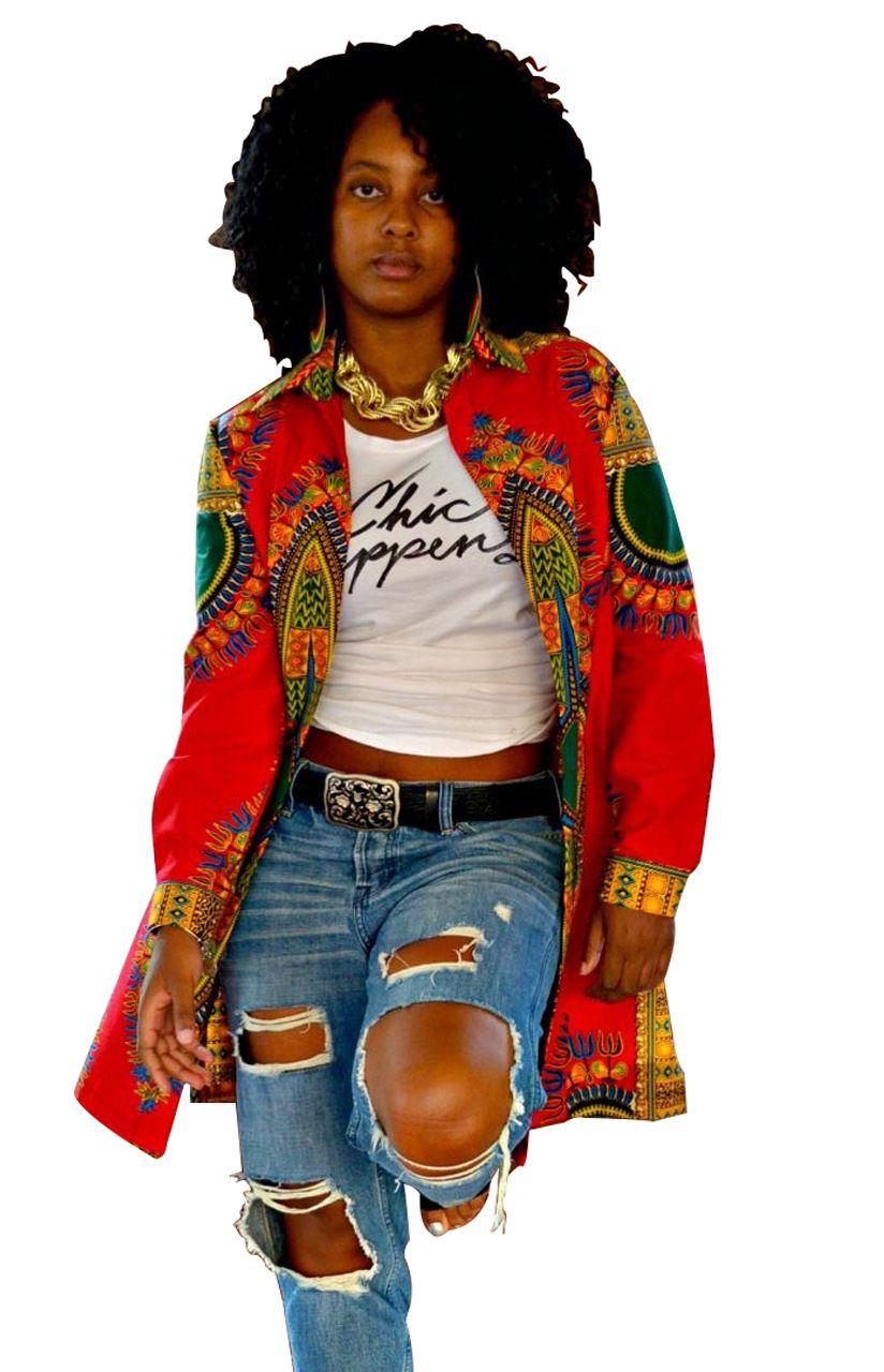 2017 Fall Retro Jacket African Print Long Sleeve Dashiki
