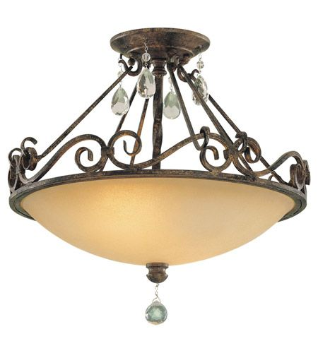 Feiss Chateau 2 Light Semi Flush Mount in Mocha Bronze SF190MBZ #lightingnewyork #lny #lighting
