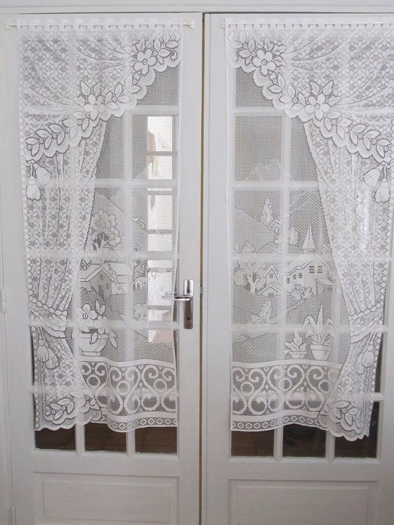 White French Door Panels Patio Windows Custom Curtains