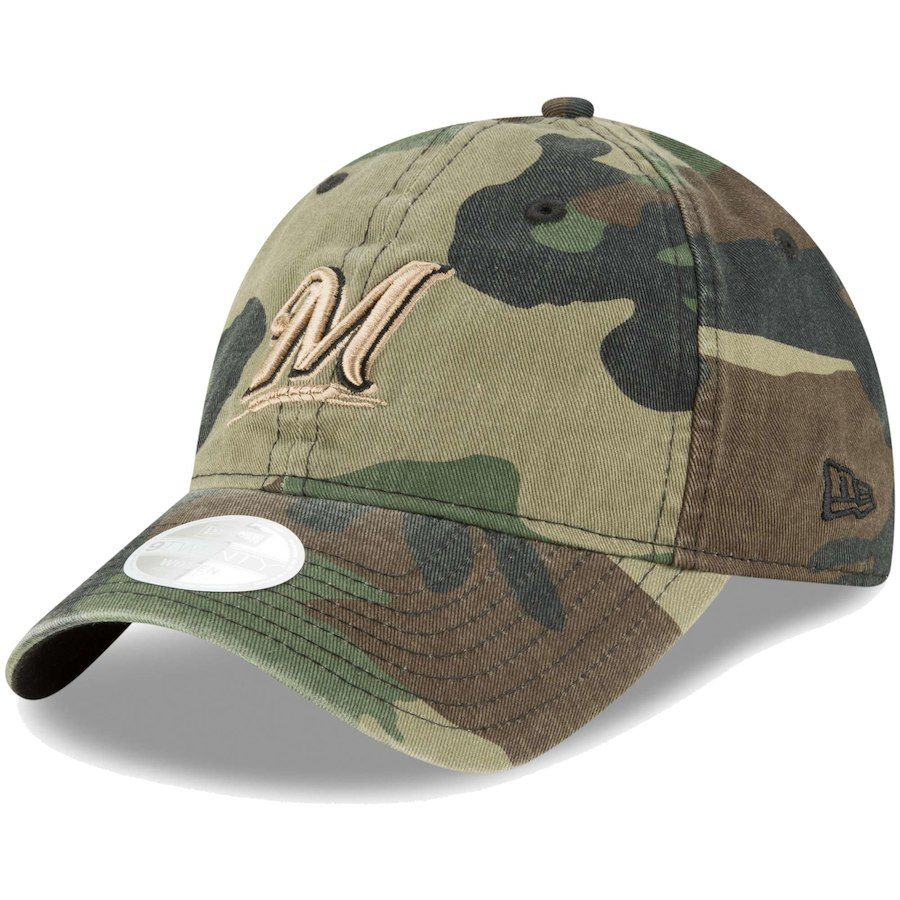 273655c883b5e5 Women's Milwaukee Brewers New Era Camo Core Classic Twill 9TWENTY  Adjustable Hat, Your Price: $19.99