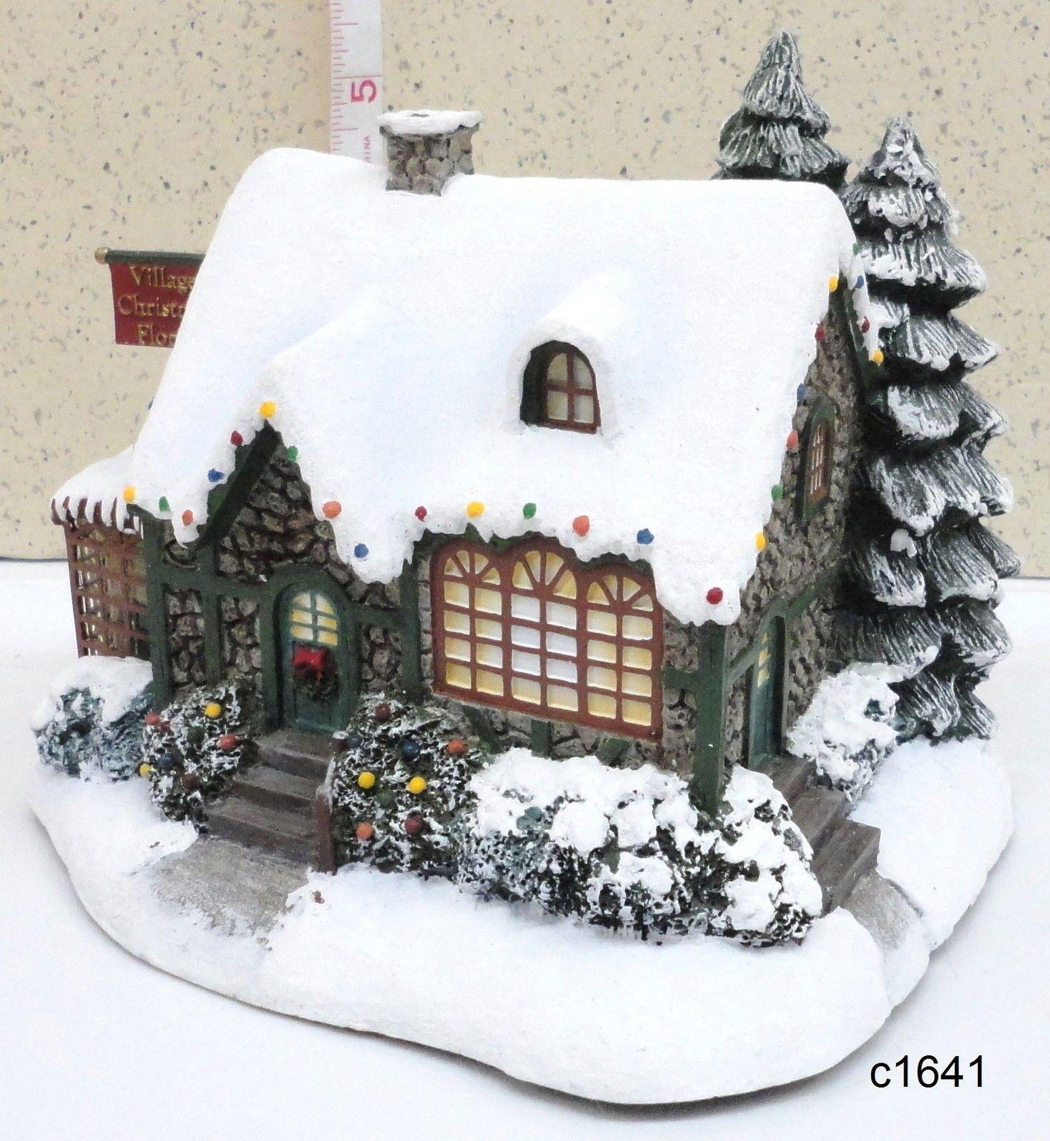 Thomas Kinkade Hawthorne VILLAGE CHRISTMAS FLORIST Shop Lighted ...