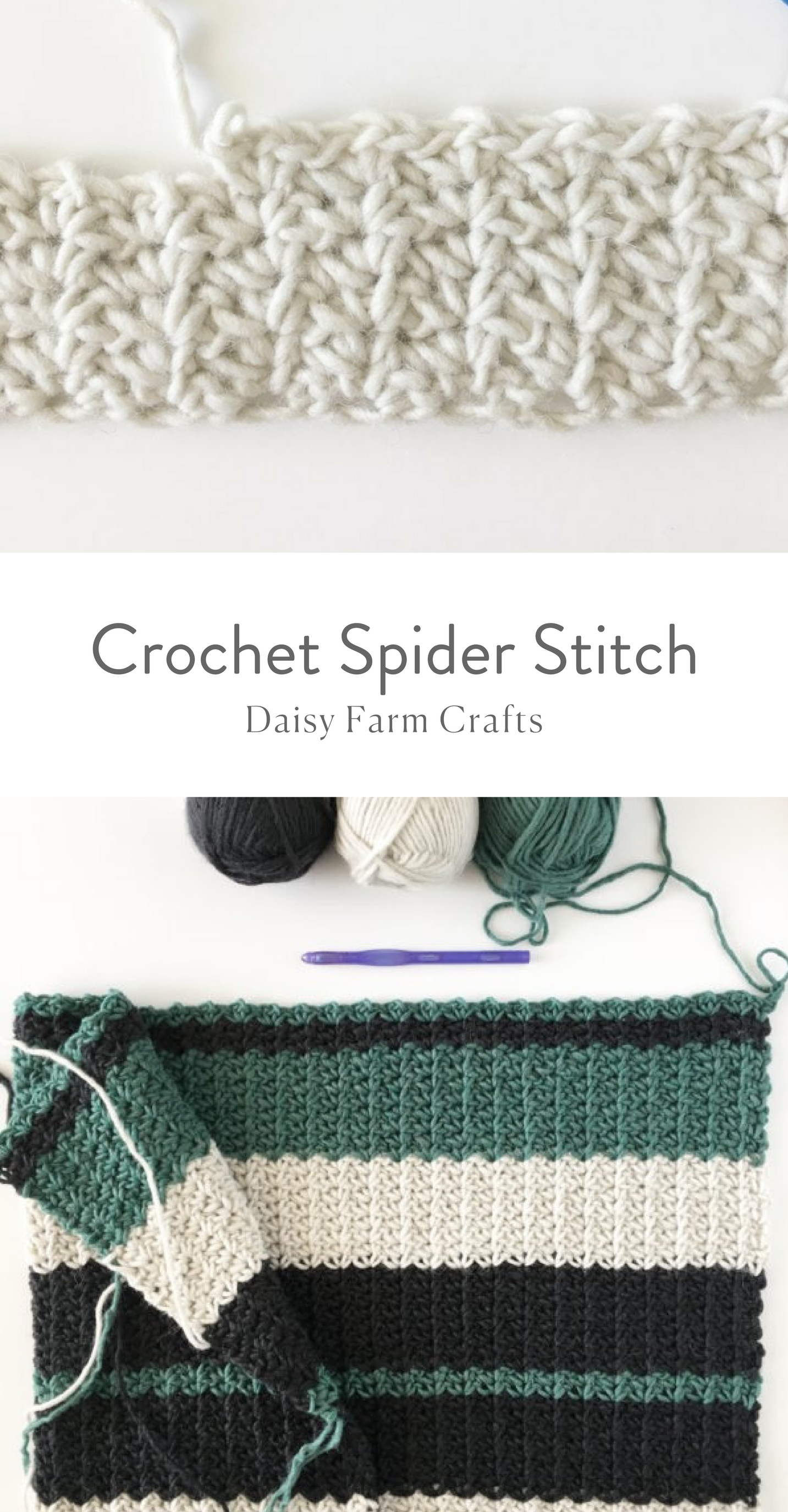 Crochet Spider Stitch - Daisy Farm Crafts   Crochet > All things ...