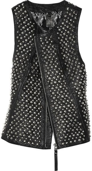 Thomas Wylde ~ Studded Leather Vest