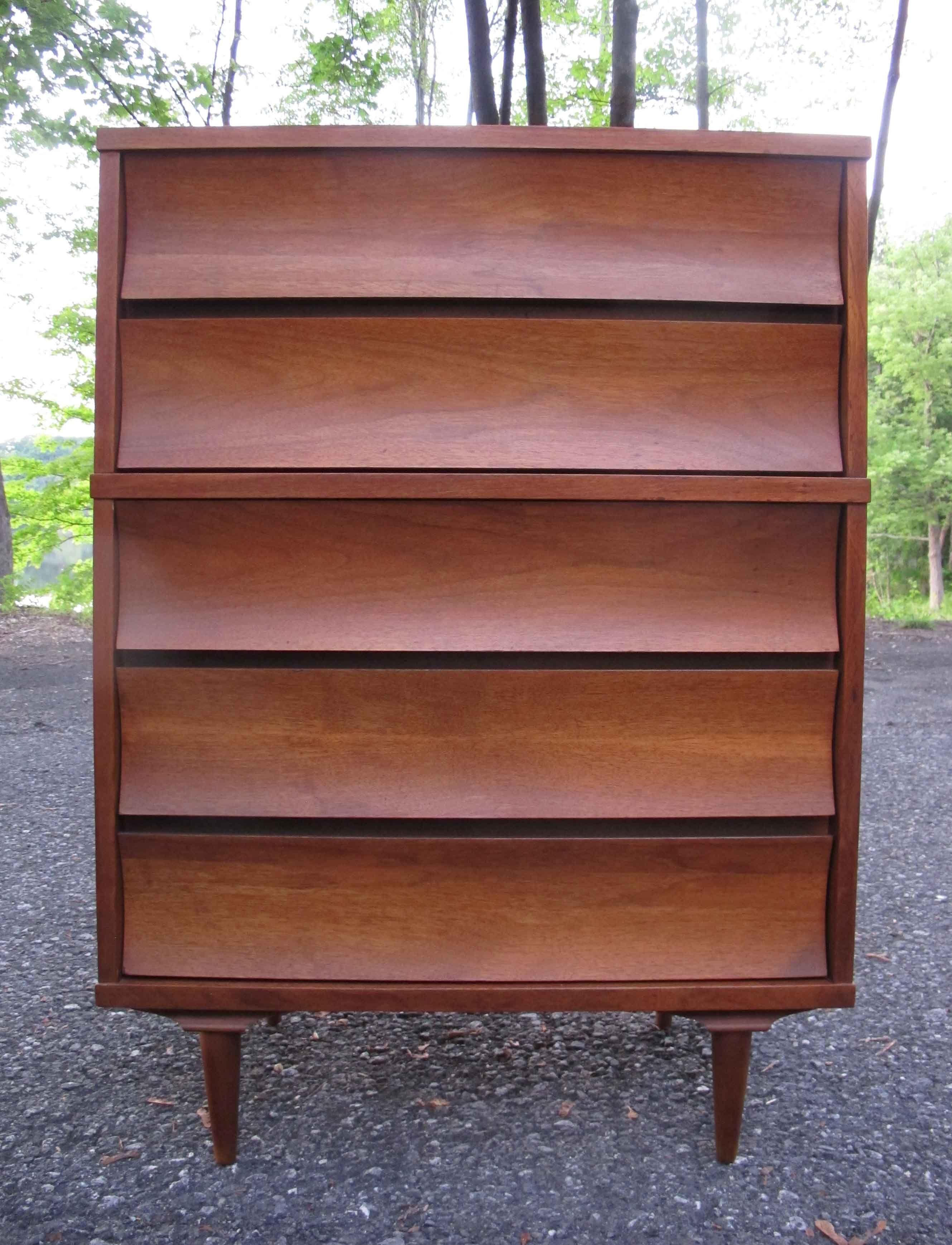 Best Mid Century Tall Dresser By Johnson Carper Modern 400 x 300