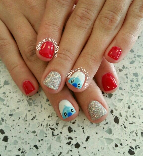 lilo and stitch nails disneyland