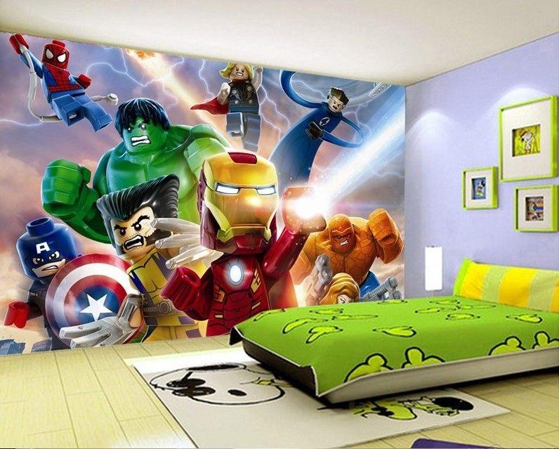 3d Wallpaper Unique Design Hulk Avenger Crashing Bricks Mural
