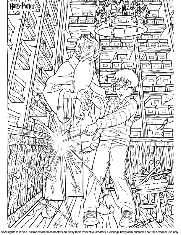 Harry Potter coloring page | possible coloring books for kids ...