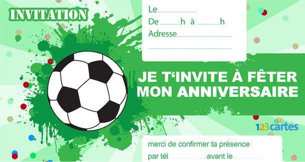 Carte D Invitation Anniversaire Garcon Football Inspirational