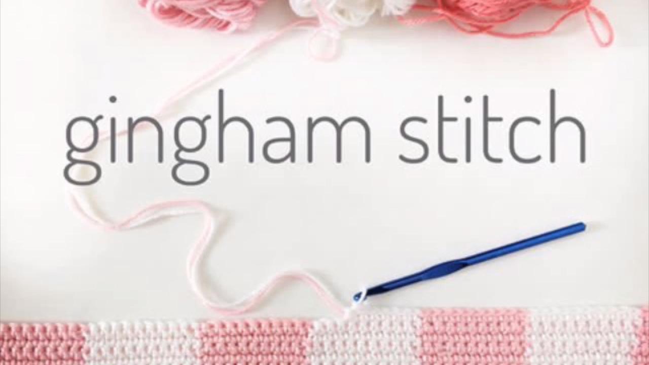 How to Crochet Gingham #crochetstitchestutorial