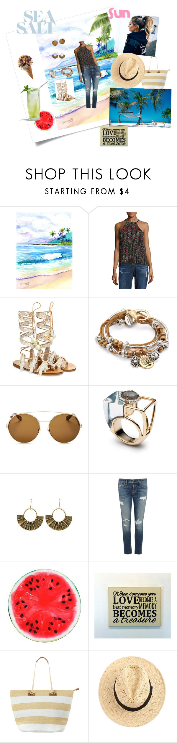 """""""Beach"""" by fashionrx ❤ liked on Polyvore featuring Likely, Elina Linardaki, Lizzy James, Givenchy, Alexis Bittar, rag & bone/JEAN and Phase Eight"""