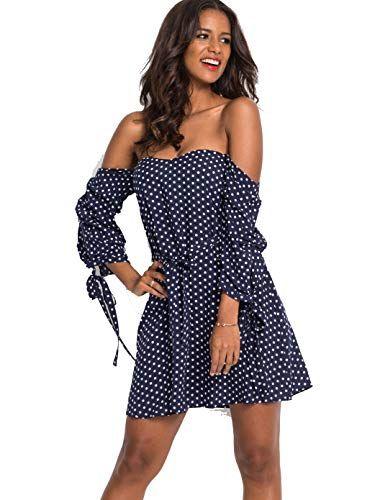 #Body #Flirt #Feminines #Kleid mit #Bindeband #blau-#weiß ...