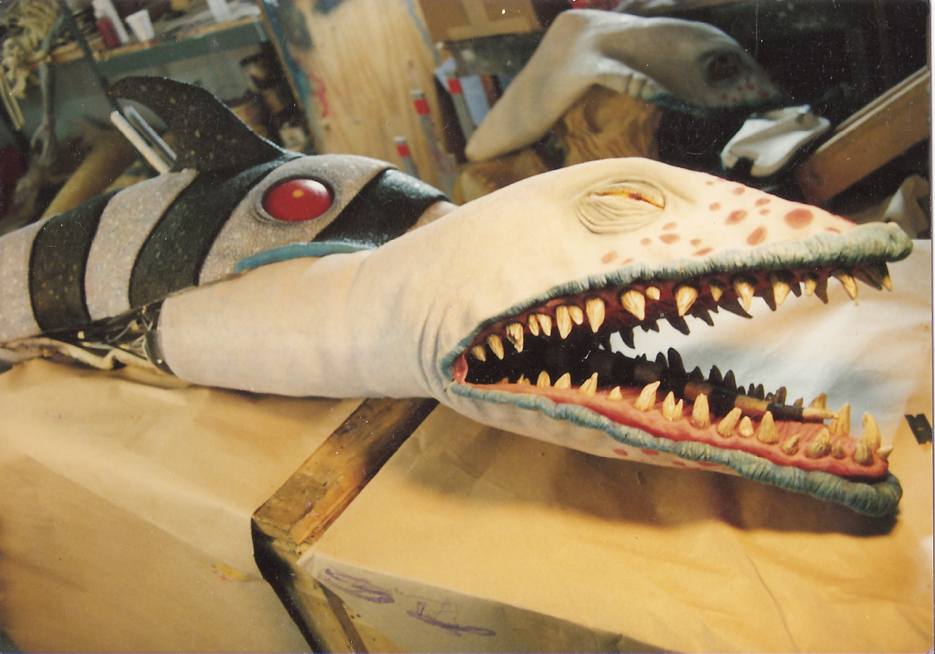 Sandworm Prop Behind The Scenes During Production Of Beetlejuice 1988
