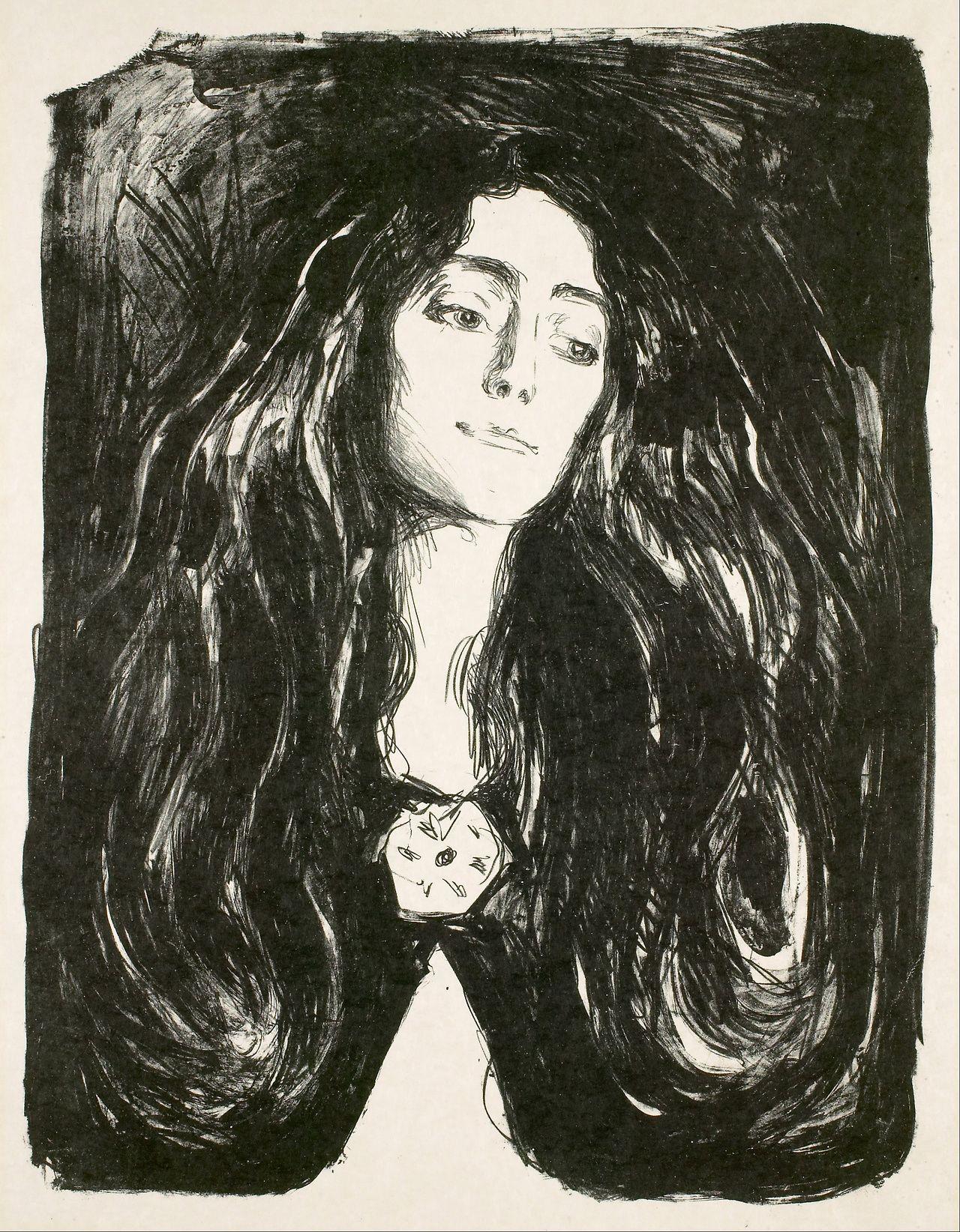 The Brooch (Eva Mudocci) - Edvard Munch