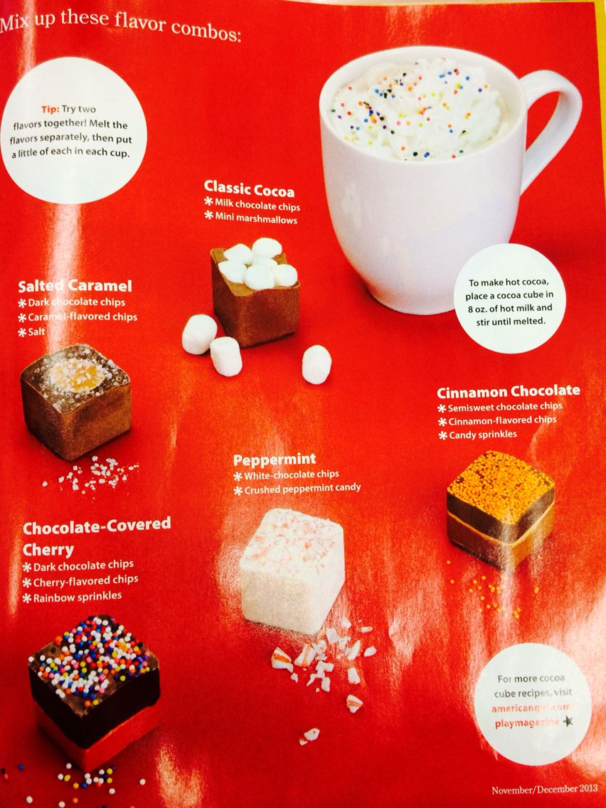 Looks Amazing I Took This From An American Girl Magazine Milk Chocolate Chips Recipes Chocolate Milk