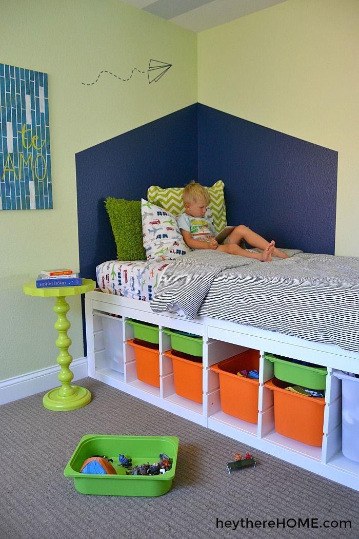 DIY Platform Bed With Storage Ikea säng, Förvaring under
