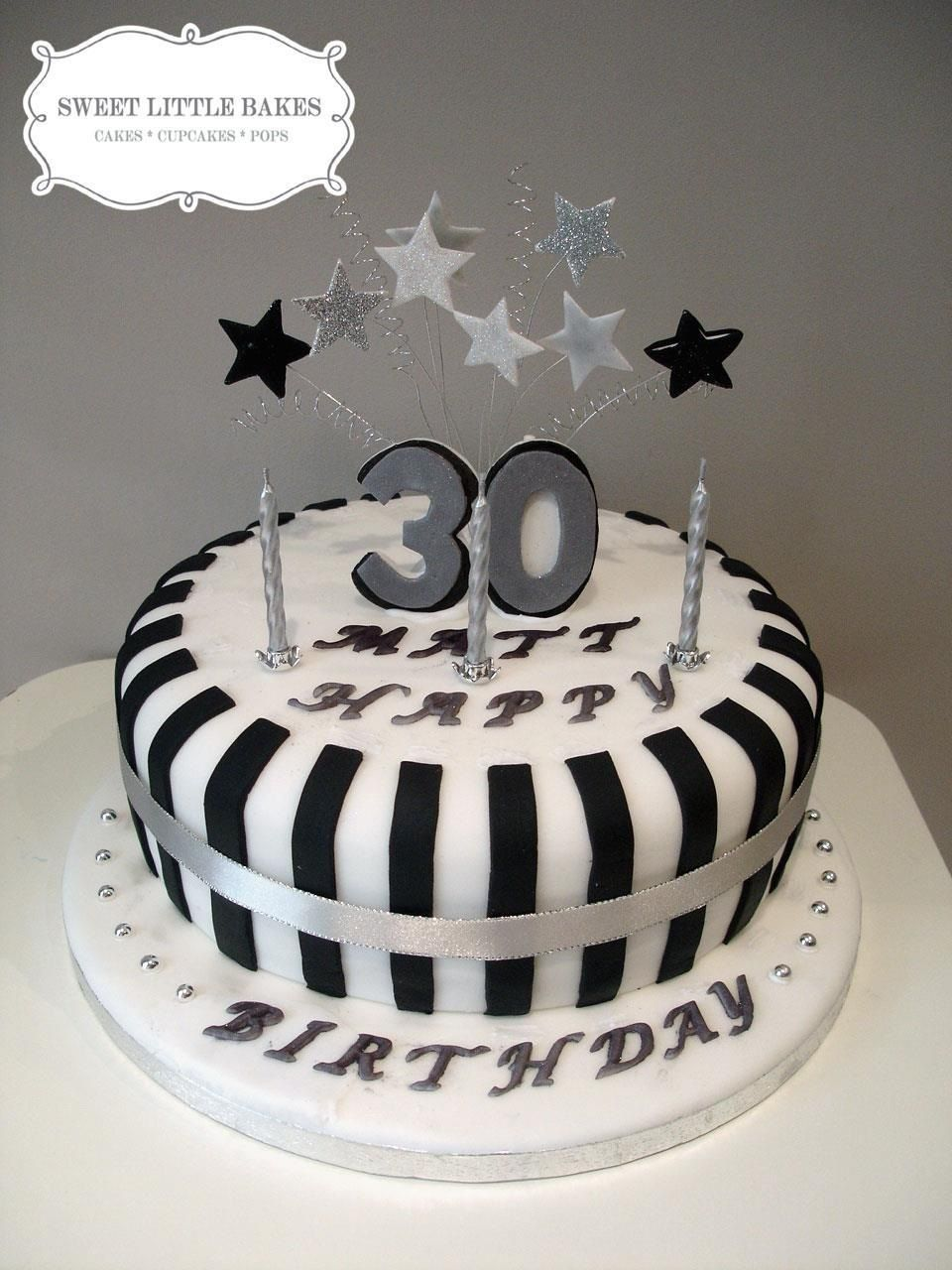 30th blackandwhite Desserts Yummy Delicious Pinterest Cake