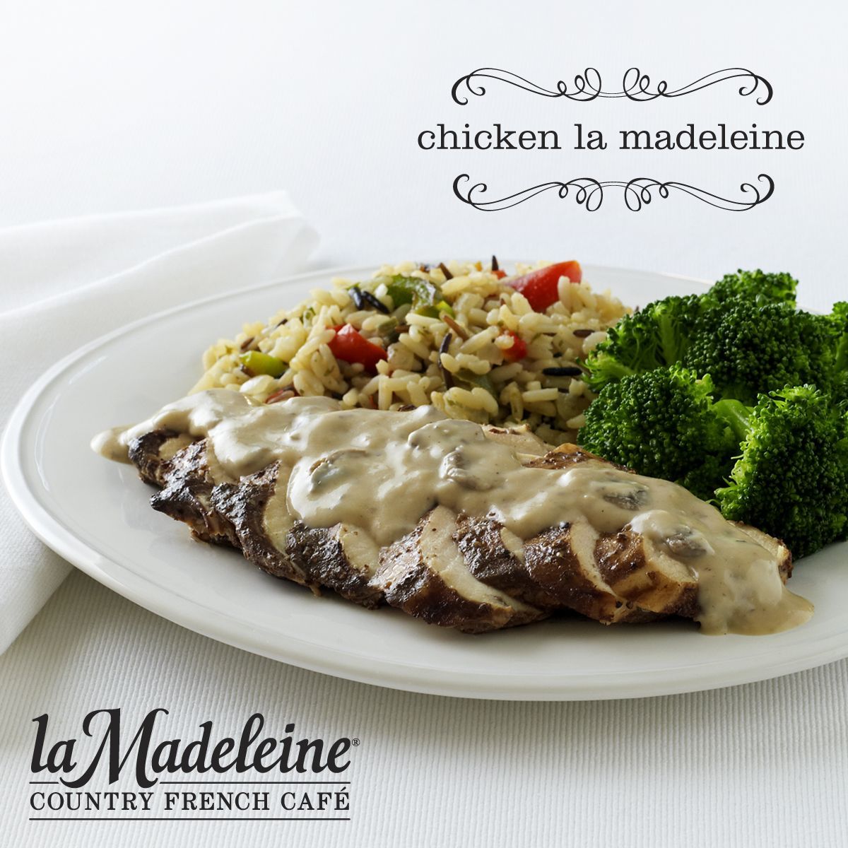 Chicken La Madeleine - Tender Breast Of Chicken With -6962