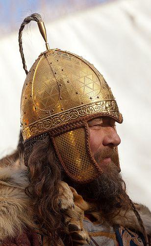 helm Jorvik Viking Festival, York 2012. Photo by Alan Harris