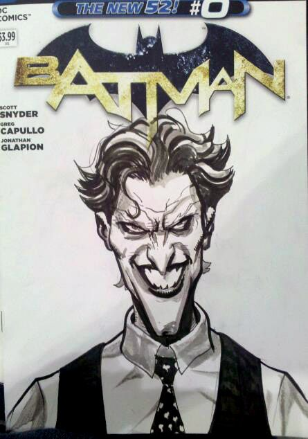 BATMAN Sketch Cover Fun  So glad to see these awesome Variant Sketch Covers coming from DC!  Got to draw on one this past weekend at Stan Lee's Comikaze Expo, still curious to see which titles get the variant Sketch Cover treatment.  #Comics #Batman #Joker