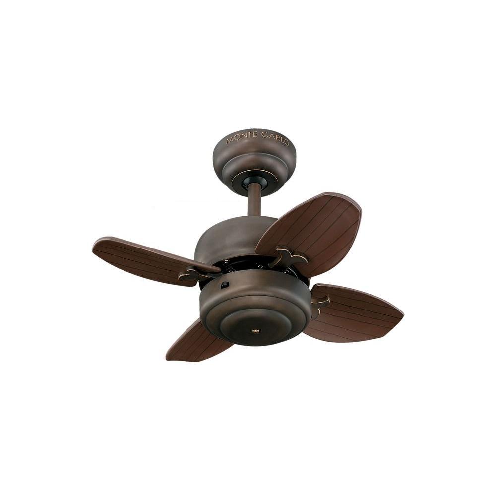 Monte Carlo Mini 20 In Roman Bronze Ceiling Fan 4mc20rb Ceiling