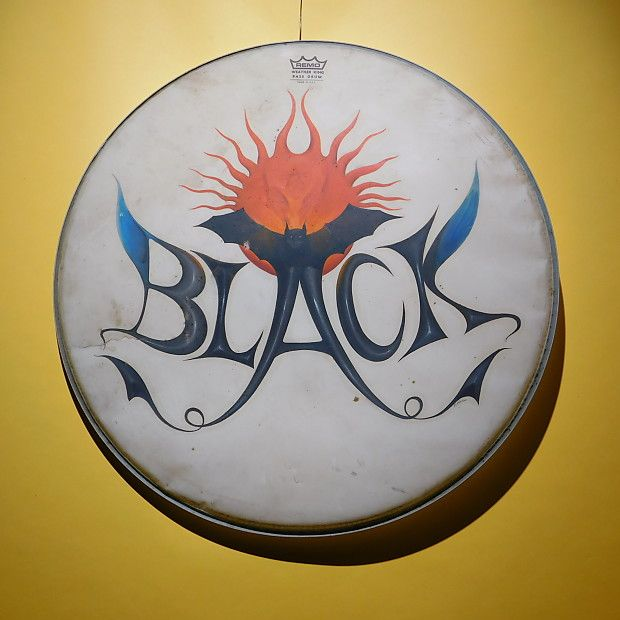 """One of a Kind Handpainted Remo 24"""" Kick Drum Resonant Hand 
