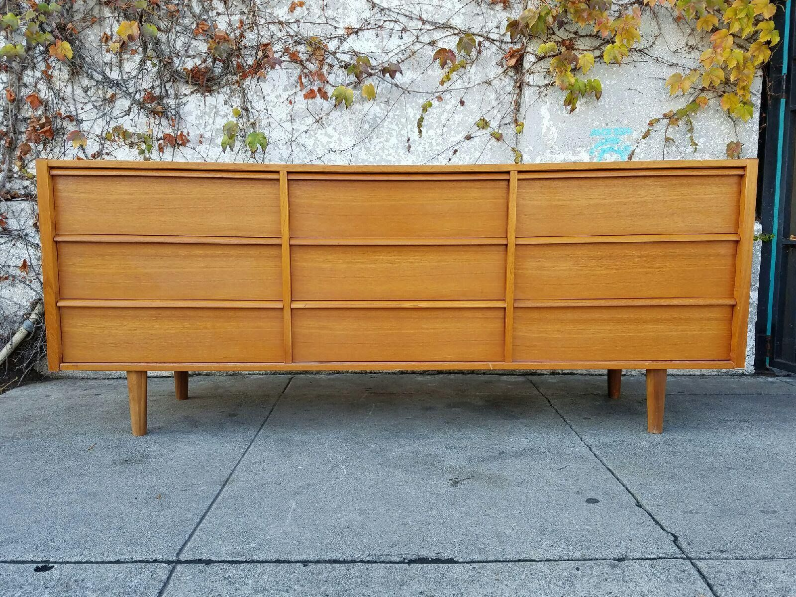Danish Modern 9 Drawer Teak Dresser Furniture Modern Furniture