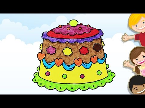 Coloring A Birthday Cake
