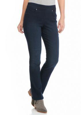 Gloria Vanderbilt Avery Pull On Straight Leg Jean Pant Pants For Women Gloria Vanderbilt Jeans Store