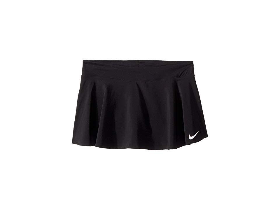 Nike Kids Court Pure Tennis Skirt Little Kids Big Kids Black Black Black White Girl S Skirt Step Onto The Court And Match U Tennis Skirt Clothes Nike Kids
