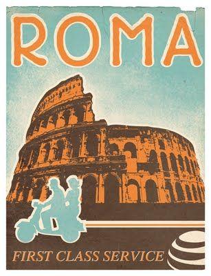Vintage Travel Poster Rome Vintage Posters Vintage Travel Posters Vintage Italian Posters