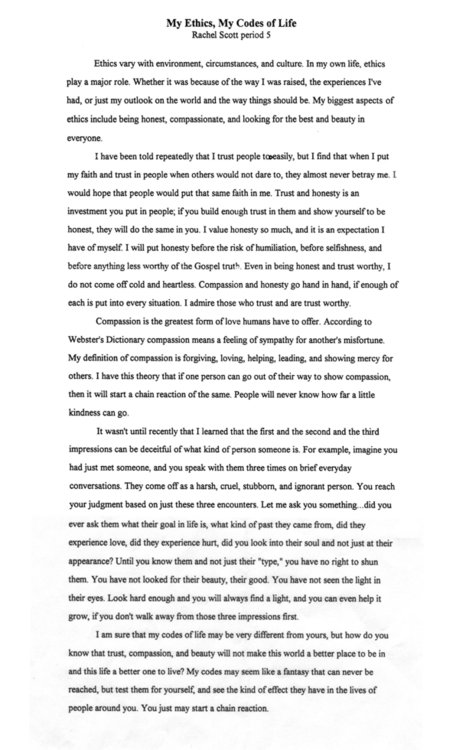 The Great Gatsby Critical Essay Rachel Scott Rachel Scott Rachel Scott Rachel Scott Love Animals Essay Mrs Dalloway Essay also Essay On The Kite Runner Rachel Scott Essay Rachel Scott Chain Reaction Essay Rachel Joy  Cause And Effect Essay Structure