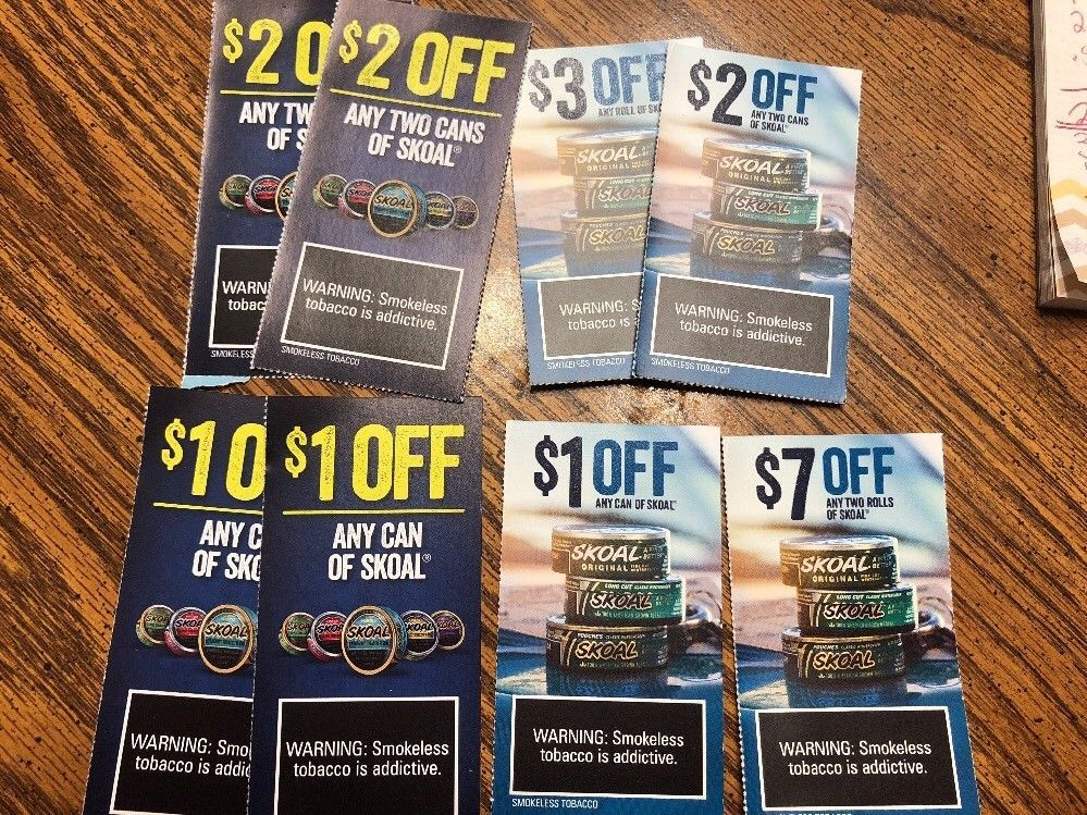 photograph regarding Skoal Coupons Printable named Whole lot Of 8 Skoal Discount codes eBay ***Variables by yourself may well such as upon