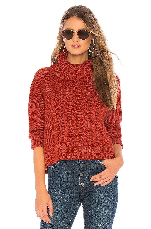 Bb Dakota Jack By Bb Dakota Say Anything Sweater In Burnt Orange I
