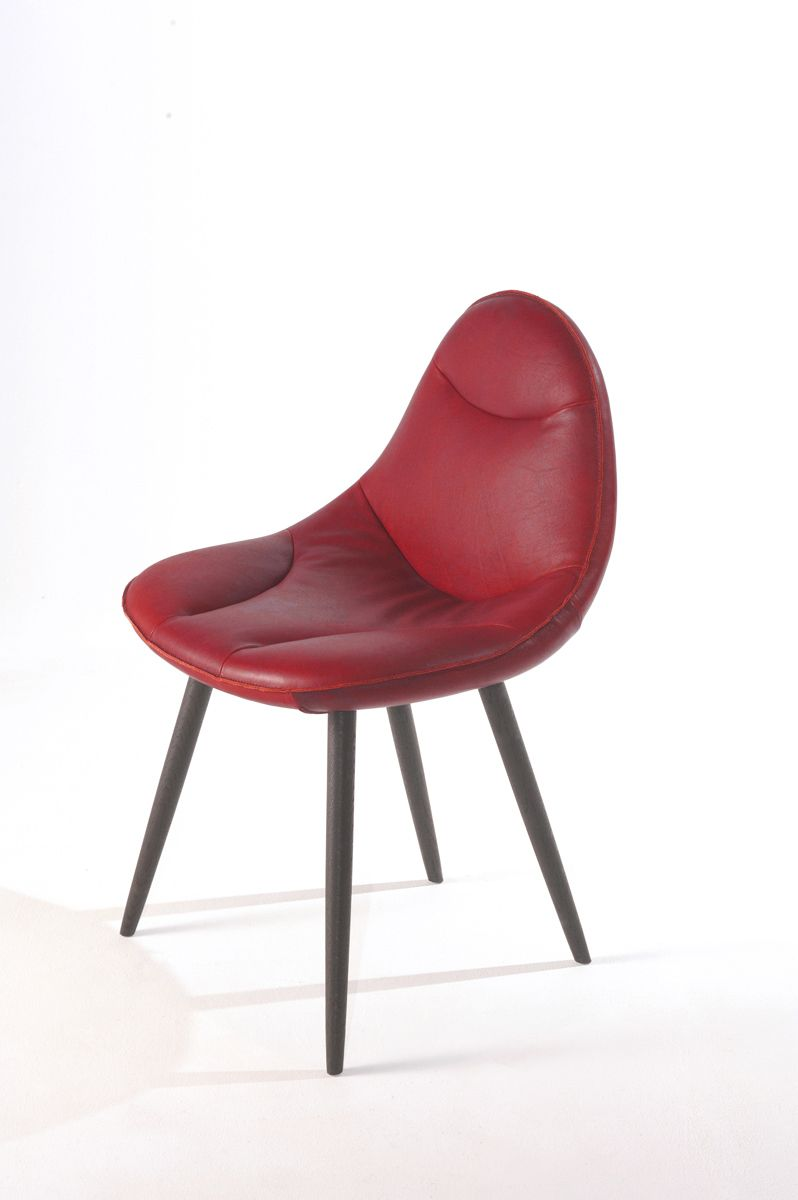 Chair Meike in Ranchero leather red | Dining Chairs | Pinterest