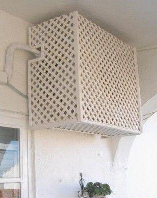 Una Solución Para Que El Compresor Del Aire Acondicionado No Quede A La Vista Cubierta De Aire Acondicionado Ocultar El Aire Acondicionado Acondicionado