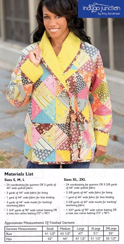 Cozy Quilted Jacket Pattern Quilted Jacket Pattern Coat Pattern