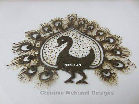 Mehndi Peacock Designs Drawings : Youtube unique peacock henna mehndi latest