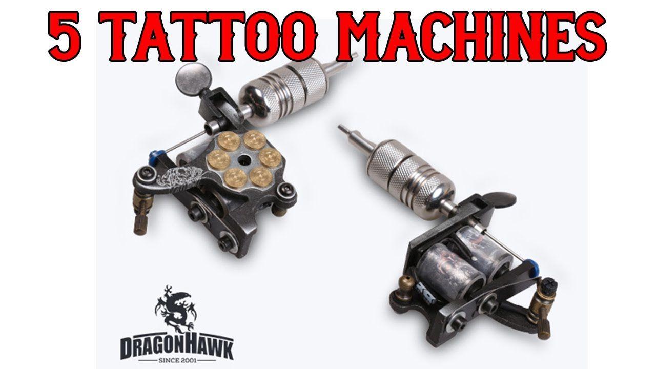 Complete tattoo kit 5 dragon hawk tattoo machines