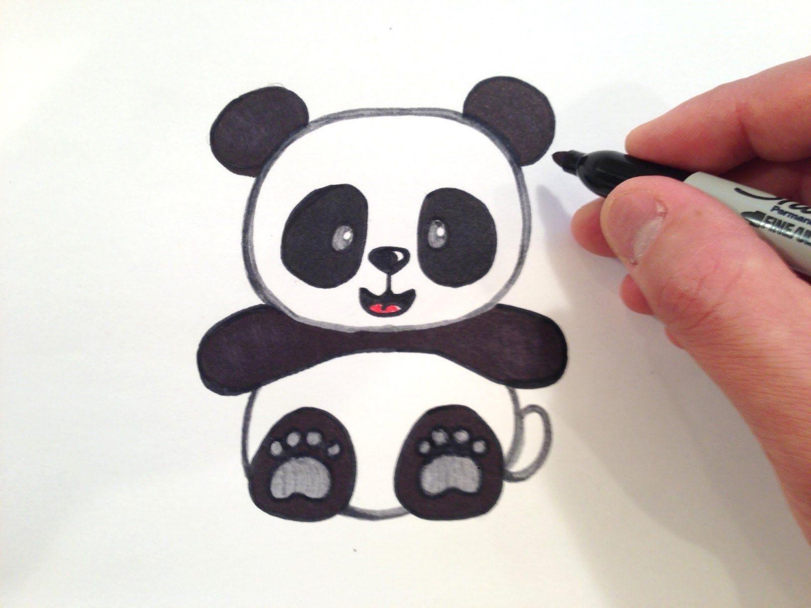 Panda Resmi Cizimi Pandalar Cizim Panda