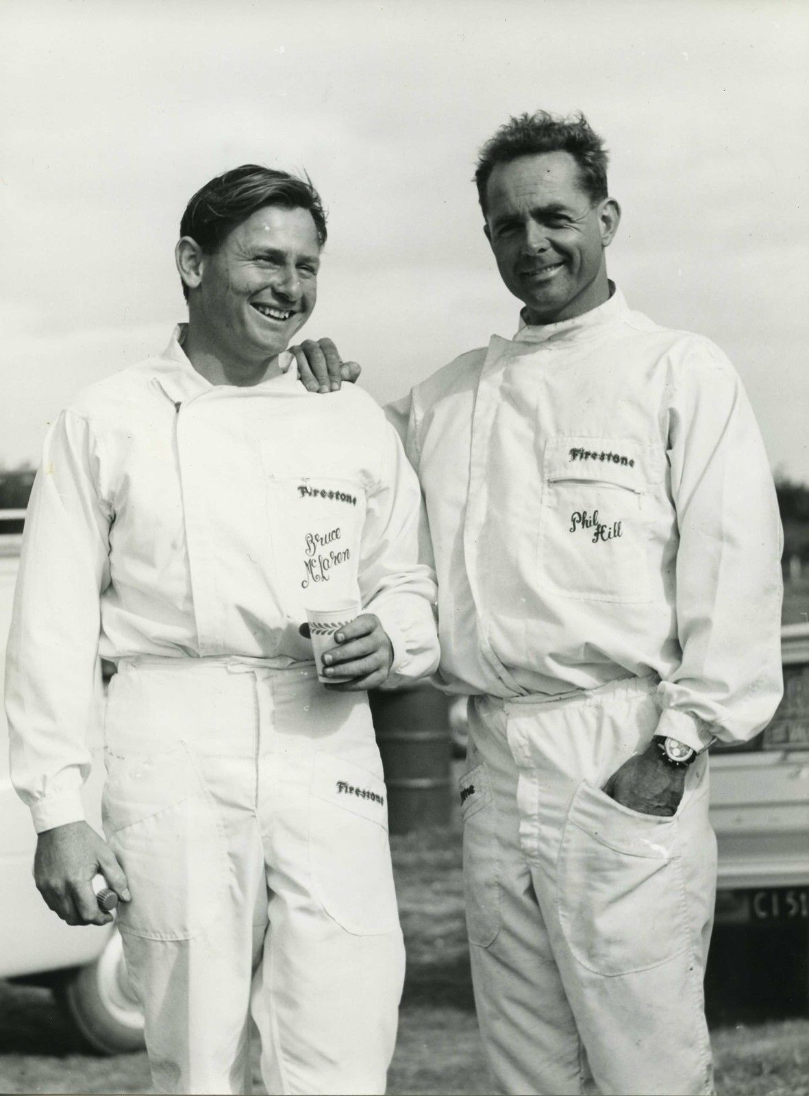 Phil Hill Bruce McLaren Original Period Photo