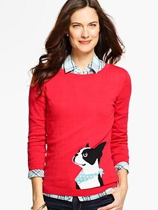Boston Terrier Sweater Misses Discover Your New Look At Talbots Shop Our Boston Te Boston Terrier Clothes Boston Terrier Accessories Boston Terrier Funny