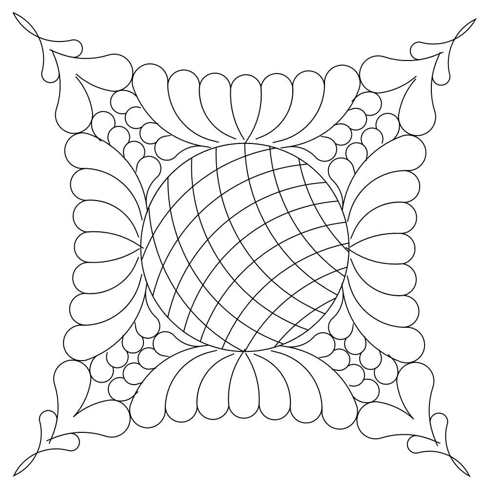 shop category dwr double wedding ring product dwr feathers crosshatch 2 quilting stencilslongarm - Double Wedding Ring Quilt Templates