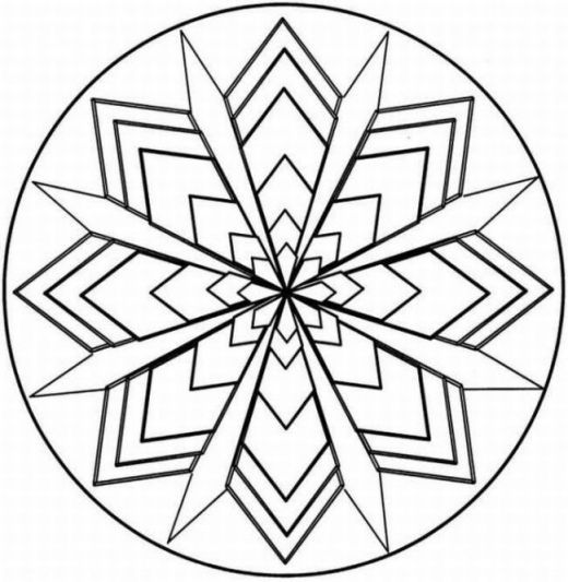 Kaleidoscope Coloring Pages Geometric Coloring Pages Pattern Coloring Pages Coloring Pages